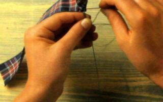 Розочки из шотландки на стебельках