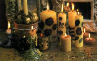 Свечи с ароматом роз