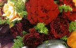 Старомодный букетик из садовых роз