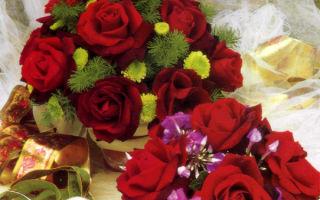 Валентинки из живых цветов в терракотовых горшочках