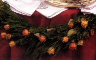 Гирлянда для праздничного стола