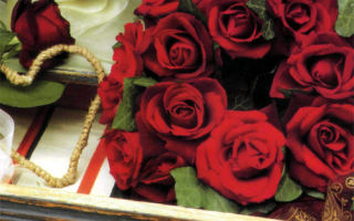 Миниатюрный венок — валентинка из живых роз