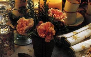 Сервировка с розами